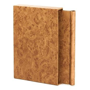 Primavera de nuevo con archivador y York a juego A4 vertical de colores marrón efecto de madera de nogal en el centro 1-250 páginas: Amazon.es: Oficina y ...