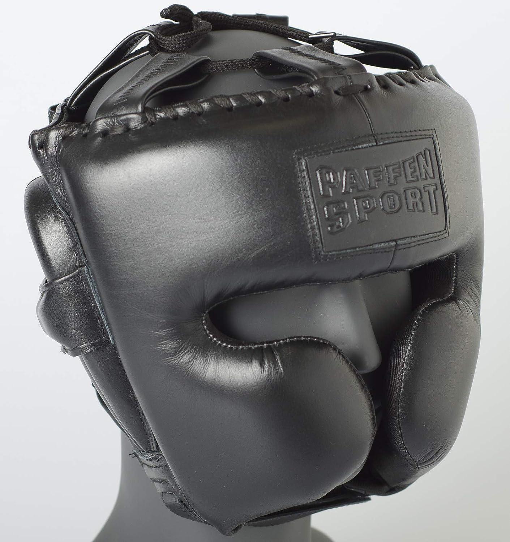 Paffen Sport Black Logo Kopfschutz f/ür Das Sparring im Boxen und Kampfsport