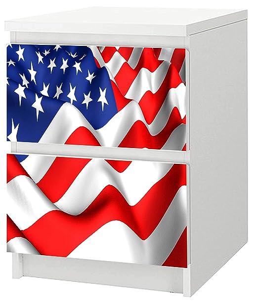 Adhesivo para cómoda de Ikea Malm 40 x 55 cm Bandera de Estados ...