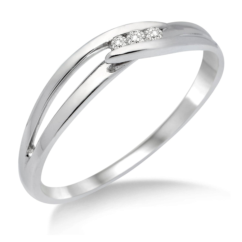 Miore Anillo de mujer con oro blanco k diamantes