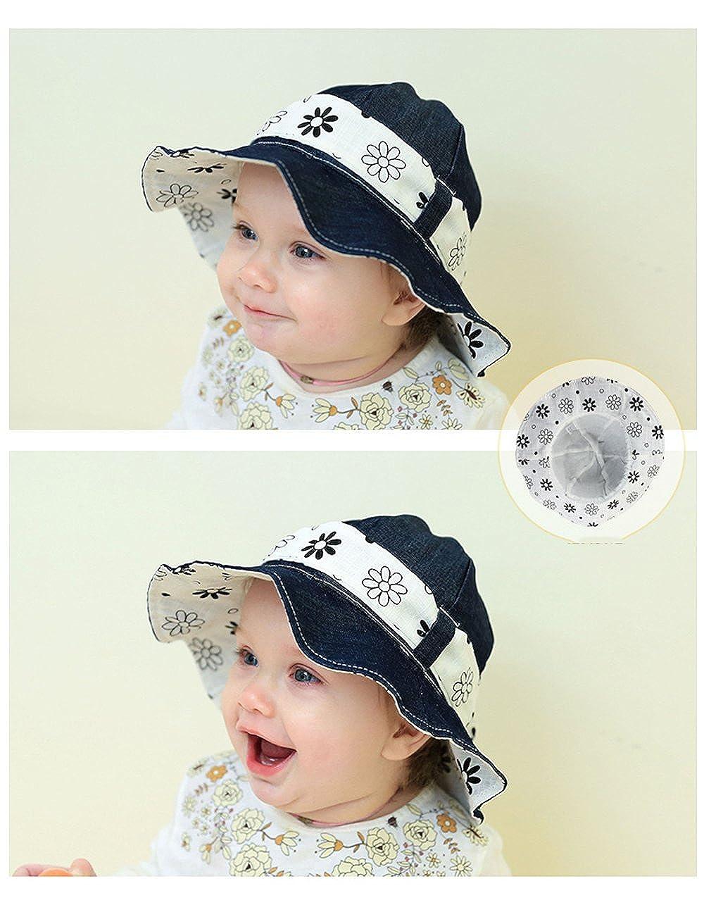 b6131693ed209 Amazon.com  Baby Kids Girls Boys Toddler Fisherman Bucket Hat Pattern Wide  Brim Outdoor Cap Sun Hat by Viva Fancy  Clothing