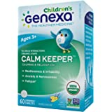 Genexa Homeopathic Calming Aid Tablets for Children: Natural, Certified Organic, Physician Formulated, Non-GMO. Relaxation, Restlessness & Concentration Supplement for Children (60 Chewable Tablets)