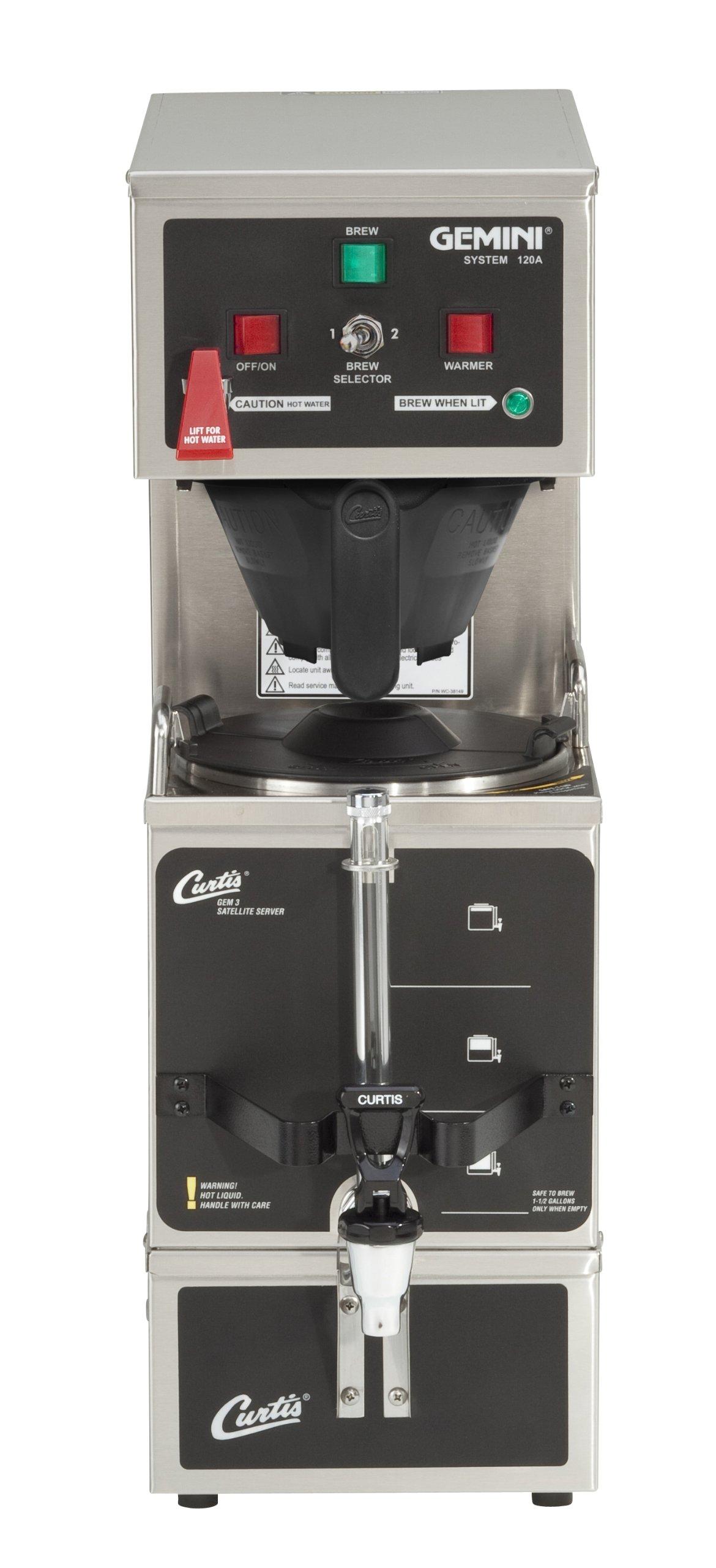 Wilbur Curtis Gemini Single Coffee Brewer, Analog, 1.0 Gal. - Commercial Coffee Brewer  - GEM-120A-10 (Each)
