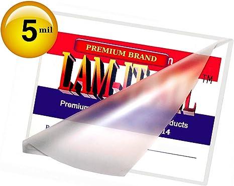 3 x 5 Laminating Pouches Laminator Sleeves 3-1//2 x 5-1//2 50 pk 10 Mil File Card