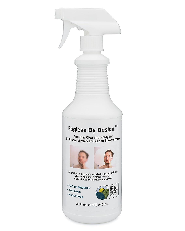 Amazon.com: Fogless By Design Bathroom Mirror Anti-Fog Spray, 32 fl ...