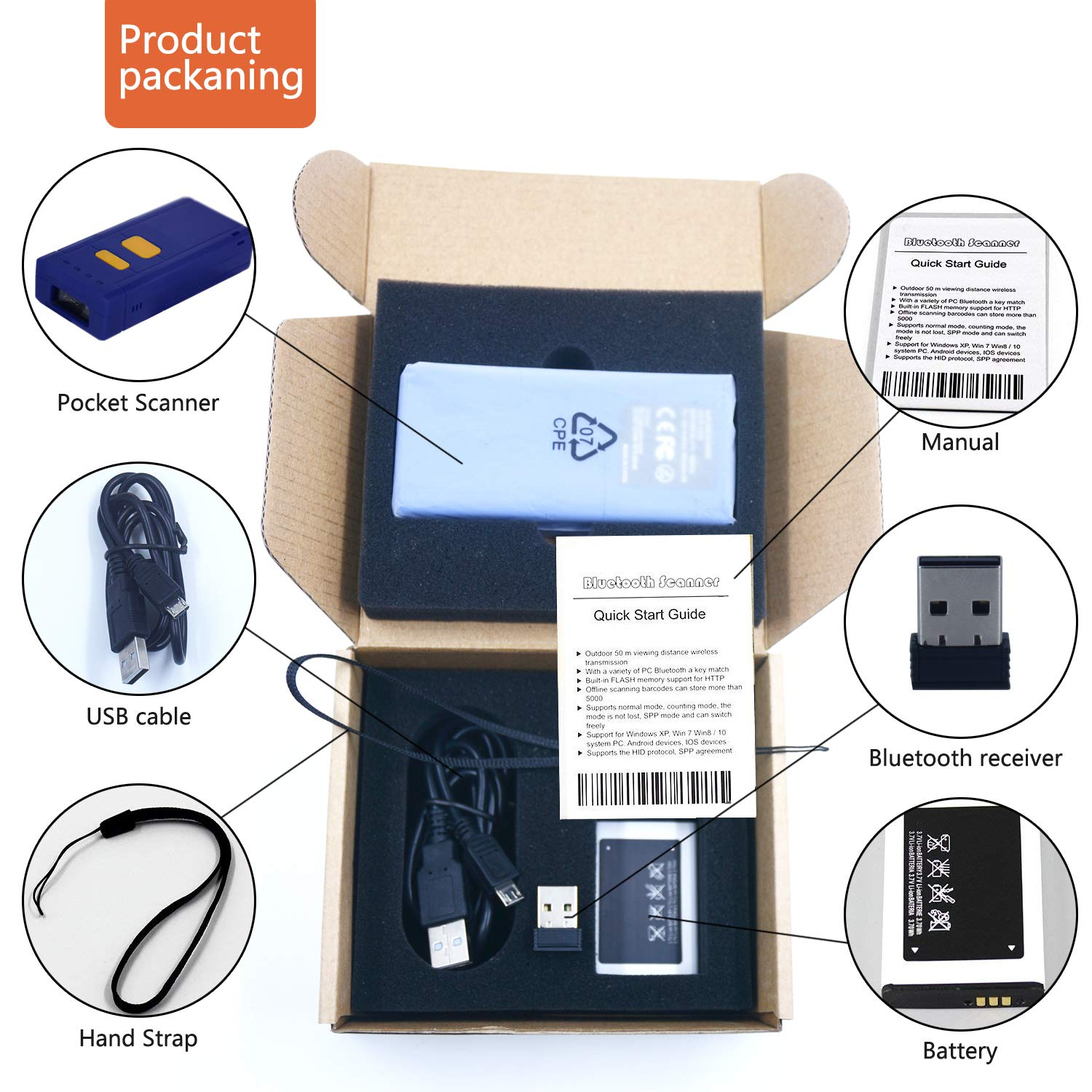 Office Electronics Alacrity Portable 1D and 2D BTWireless