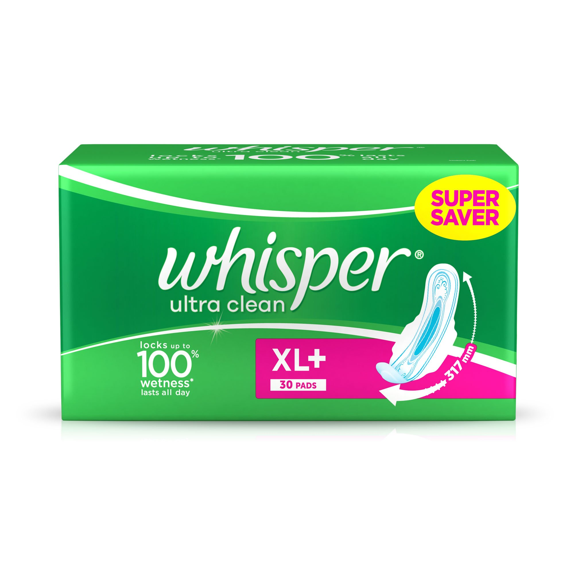 Whisper Ultra Plus Sanitary Pads XL Plus - 30 Count product image