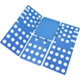 Clothes Folding Board Adjustable Clothes Folder with Towel Clips - Adult Dress Pants Towels T-Shirt Folder Board/Easy Laundry Folder Organizer