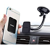 Magnetic Windshield Phone Mount Hexadyium with 6 Magnets to Hold Cellphones Samsung S8 & S8 Plus, IPhone 7 Plus, Top…