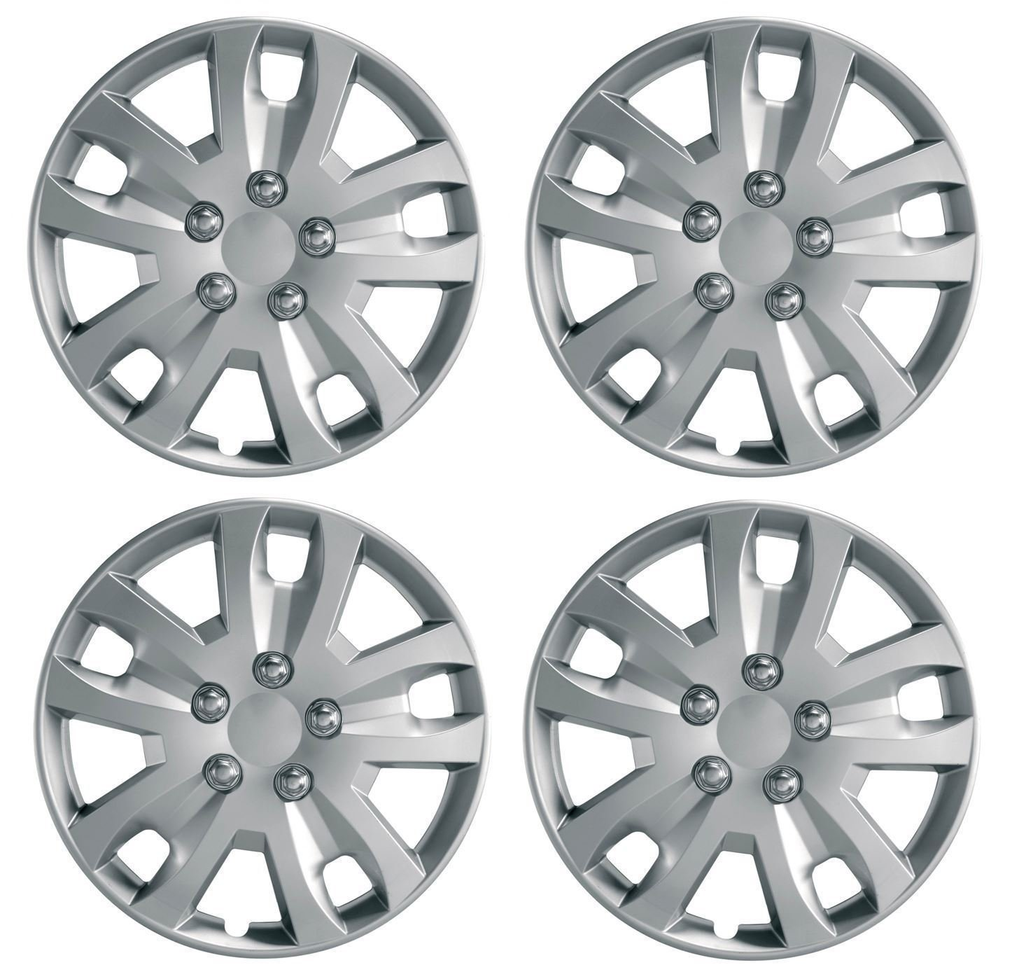 UKB4C Set of 4 Wheel Trims/Hub Caps 14' Covers fit Peugeot 106 107 206 207