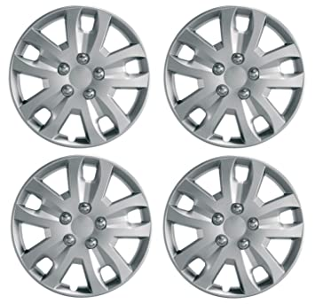 "UKB4C Set 4 Wheel Trims Hub Caps 15"" Covers fits Peugeot Partner 207 308 306"