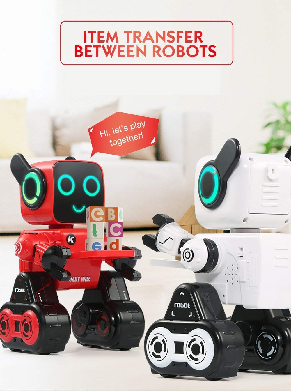 Hi-Tech Wireless Interactive Robot RC Robot Toy for Boys, Girls, Kids, Children (Red) by HI-TECH OPTOELETRONICS CO., LTD. (Image #6)