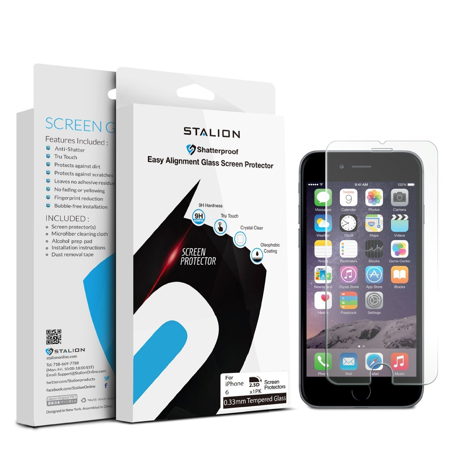 Iphone 6 Screen Protector: Stalion Shield Tempered Liquid Glass Shatterproof .. 10