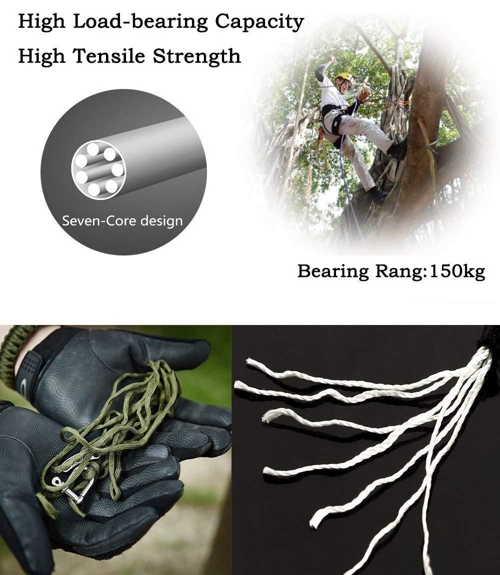 12 in 1 Use 2 Pack Survival Paracord Bracelets Emergency Gear Kit for Camping Hiking Trekking Travel Survival Bracelets