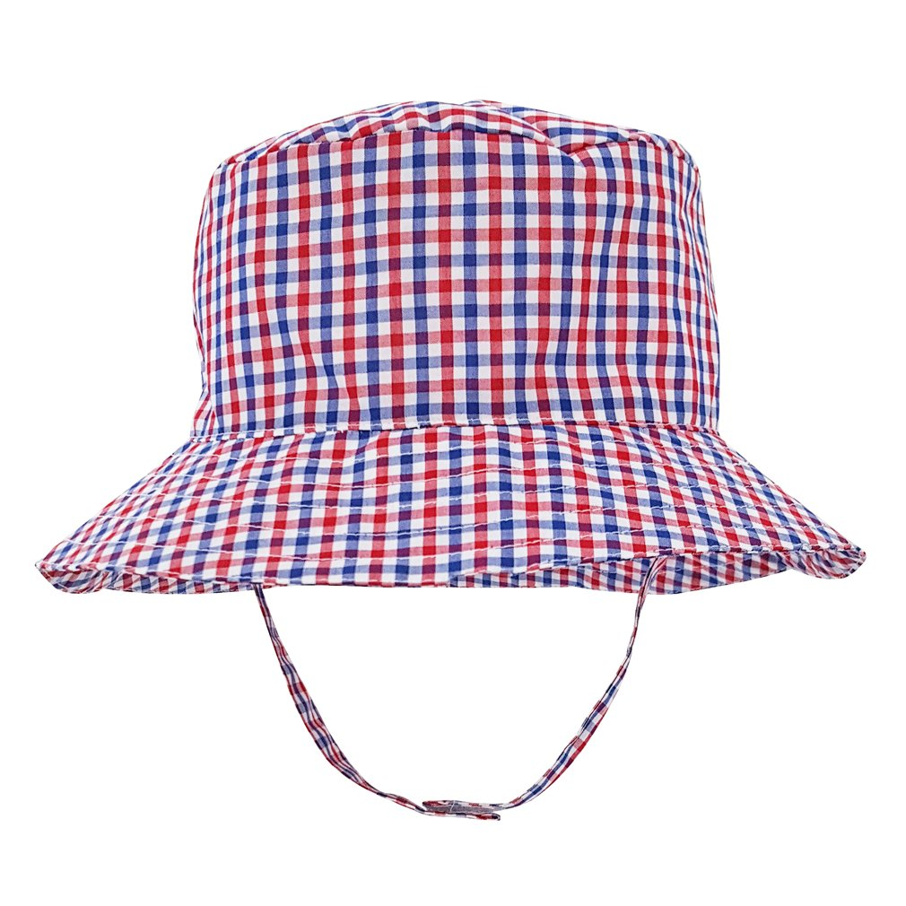 7a5b0f8332a Amazon.com  Huggalugs Baby Or Toddler Boys Plaid Bucket Hat UPF 25+ in 3  Color Choices  Clothing