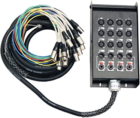 Seismic Audio 12 CHANNEL 25/' XLR SNAKE CABLE 12x4x25 Pro Audio Recording Stage