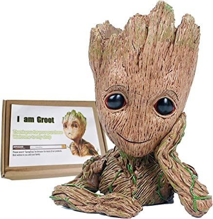 Guardians of the Galaxy Groot Cute PVC Figure Flower Pot New In Box