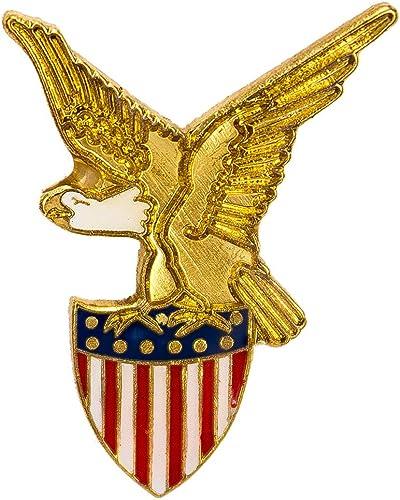 Patriotic Bald Eagle American USA Waving Flag Rectangle Lapel Pin Tie Tack