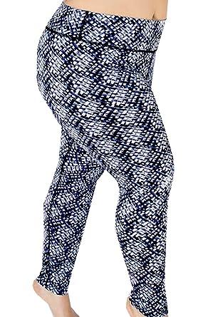 Appleletics Women's Plus Size Athletic Uniquely Patterned Yoga New Plus Size Patterned Leggings