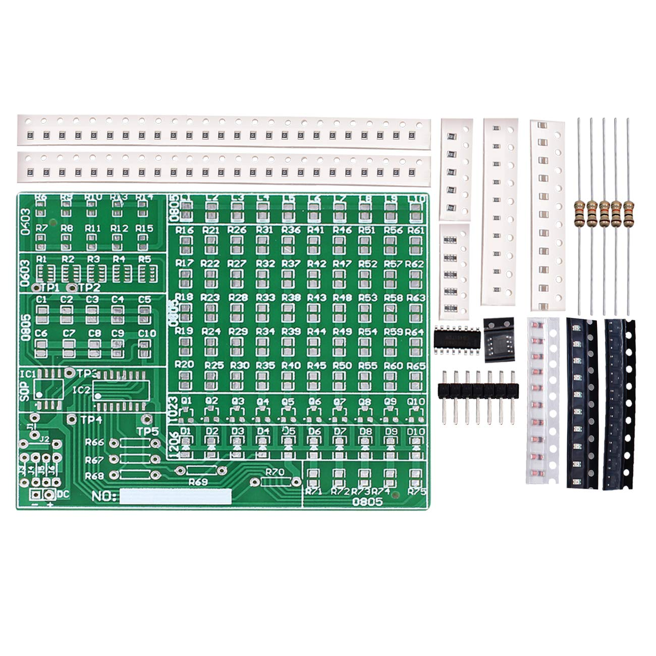 WHDTS 1 5mm SMT Components Solder Kit Practice PCB Board Electric DIY Kit  Learning Training Suite