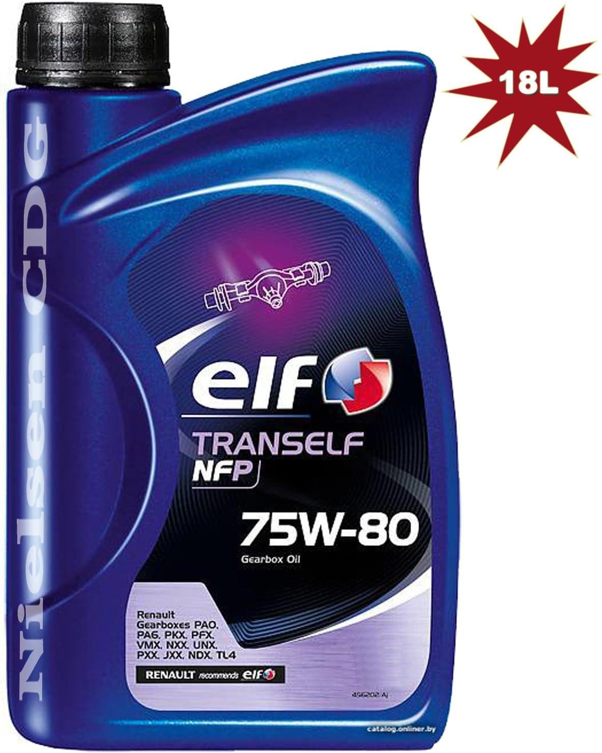 Elfo tranself Fen 75 W80 Gear aceite 18 x 1 L=18 L: Amazon ...