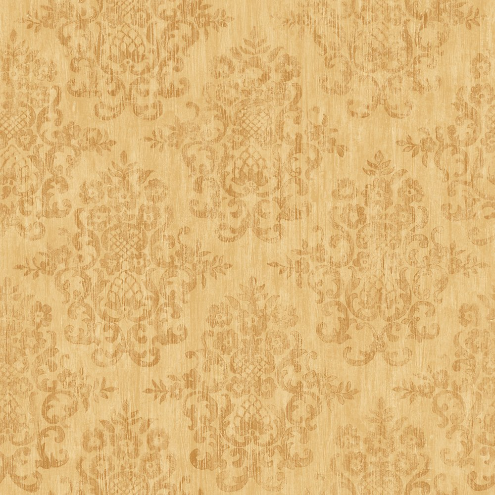 Decorate By Color BC1581818 Yellow Earth Tone Damask Wallpaper