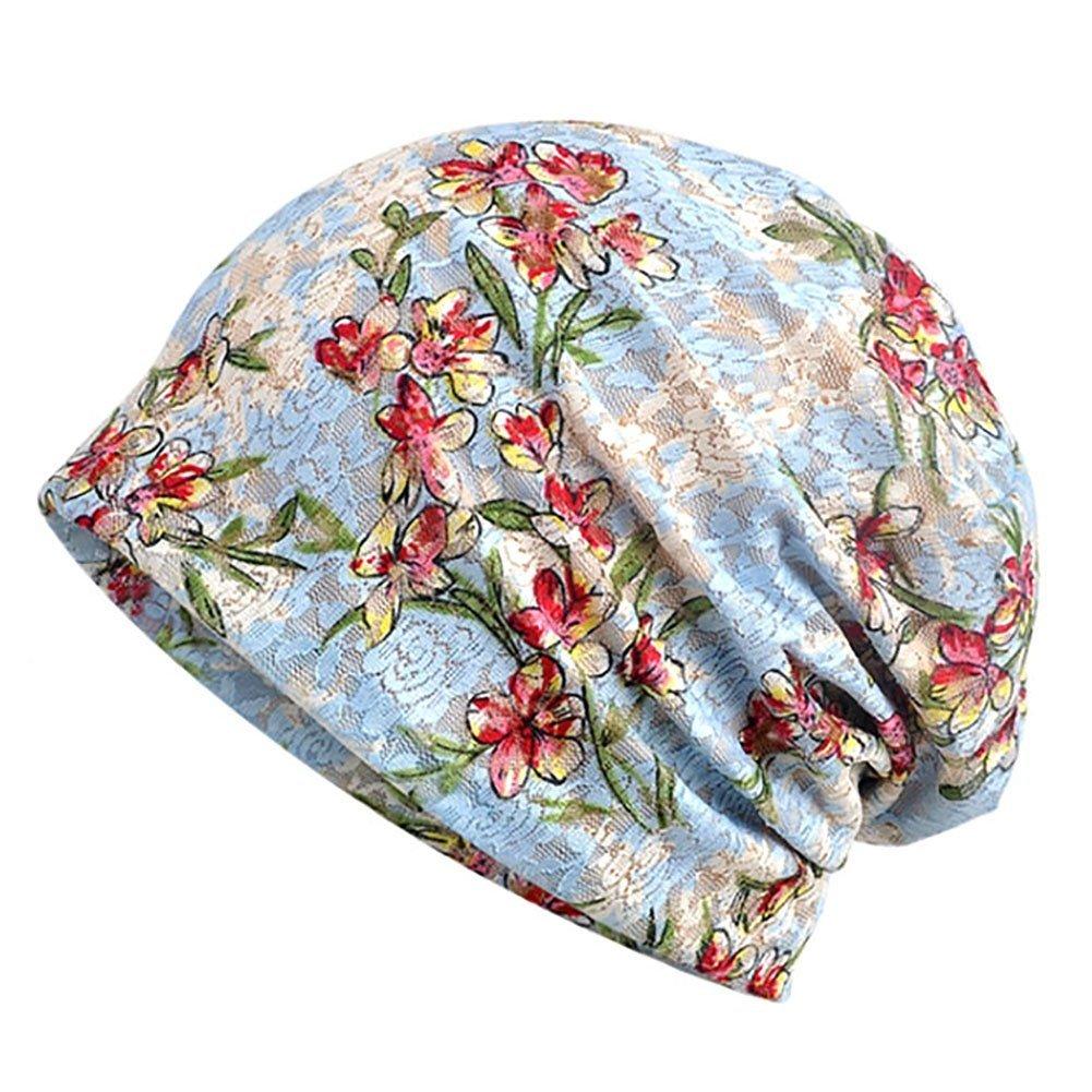 手数料安い レース花柄ビーニー帽 ダイヤモンドビーズ Blue 化学療法キャップ ソフトで快適 シック シック ゆったりとした帽子 女性用 B07G2955TQ Floral Blue Sky Blue Floral Sky Blue, J+lafan:486b314c --- mcrisartesanato.com.br