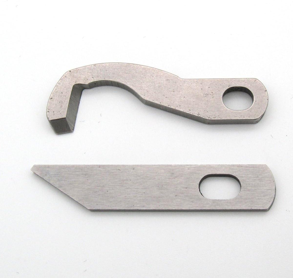 CKPSMS Marca -1SET #XB0563001+X77683001 Cuchillo Serger superior e inferior Ajuste para Brother 925D, 929D, 1034D Viking (cuchilla superior e inferior-XB0563001 + X77683001)