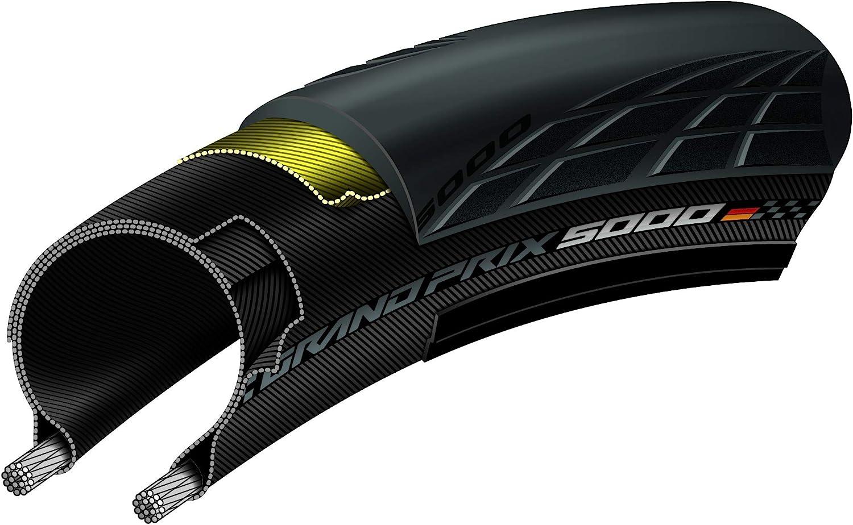Continental Grand Prix 5000 27.5 650 x 25B Pneu de Route Mixte Adulte Noir