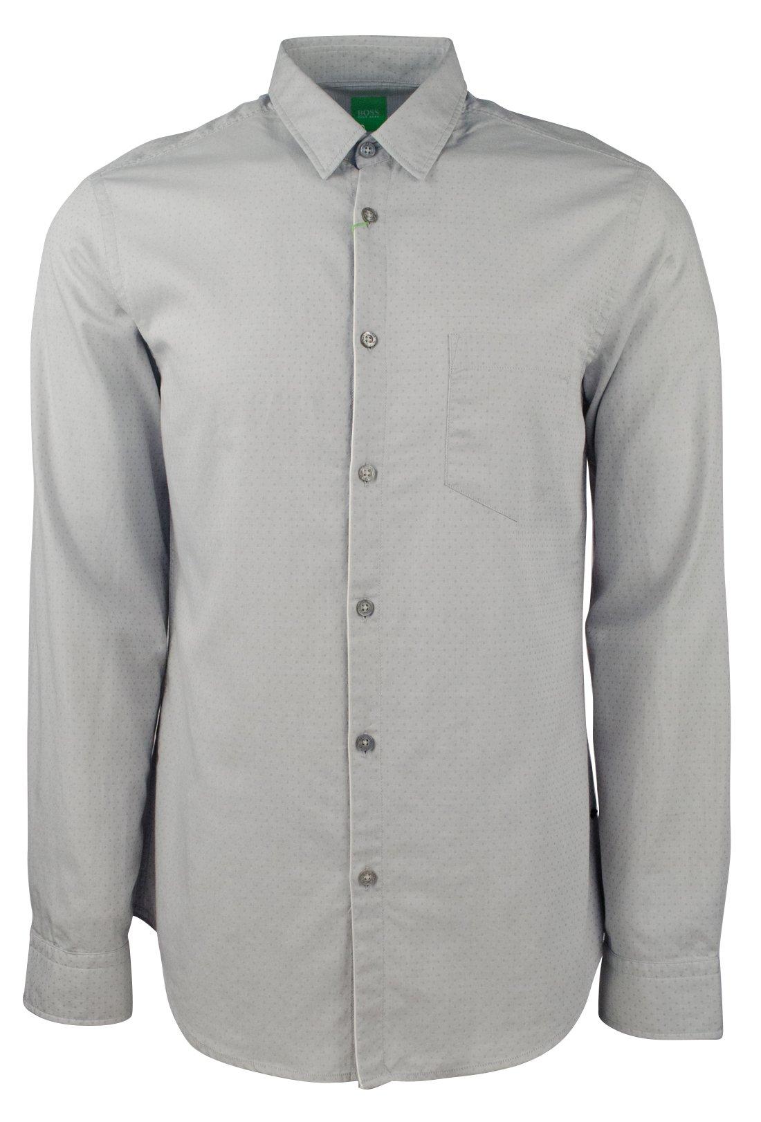 Hugo Boss Men's Green Label C-Barnaba Regular Fit Shirt-LG-XL