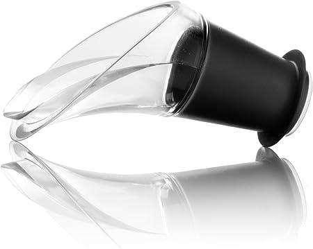 Vacu Vin Escanciador de Vino antigoteo, Set 2 Unidades, Acero Inoxidable, Negro, 6x3.6x3.1 cm