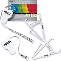 Body Tape Measure and Skinfold Caliper for Body Set - (Pack of 2) - Skin Fold Body Fat Analyzer and BMI Measurement Tool…