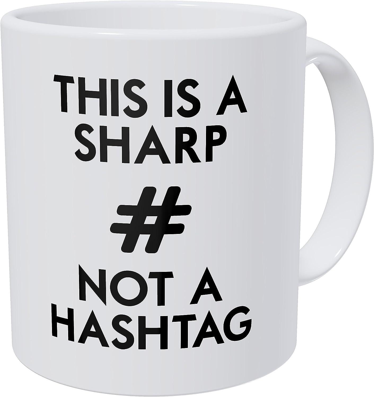 Sharp, Not Hashtag Mug for Music Teachers