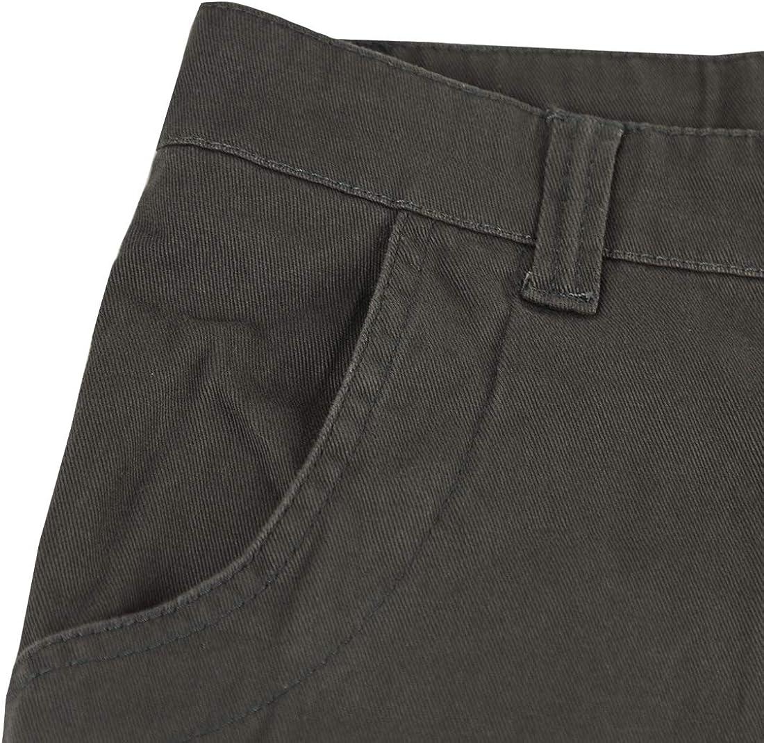 APTRO Mens Short Cargo Shorts Summer Black Cotton Dress Camo Casual Shorts Mens Shorts Combat Pants Multi Pocket Knee Length Elastic Shorts
