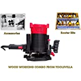 Toolsvilla Wood Working Router Machine Combo Agni 12mm With Bits