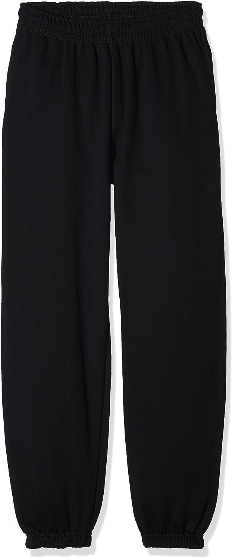Pack de 2 Unisex ni/ños Fruit of the Loom Elasticated Cuff Classic Pantalones de Deporte