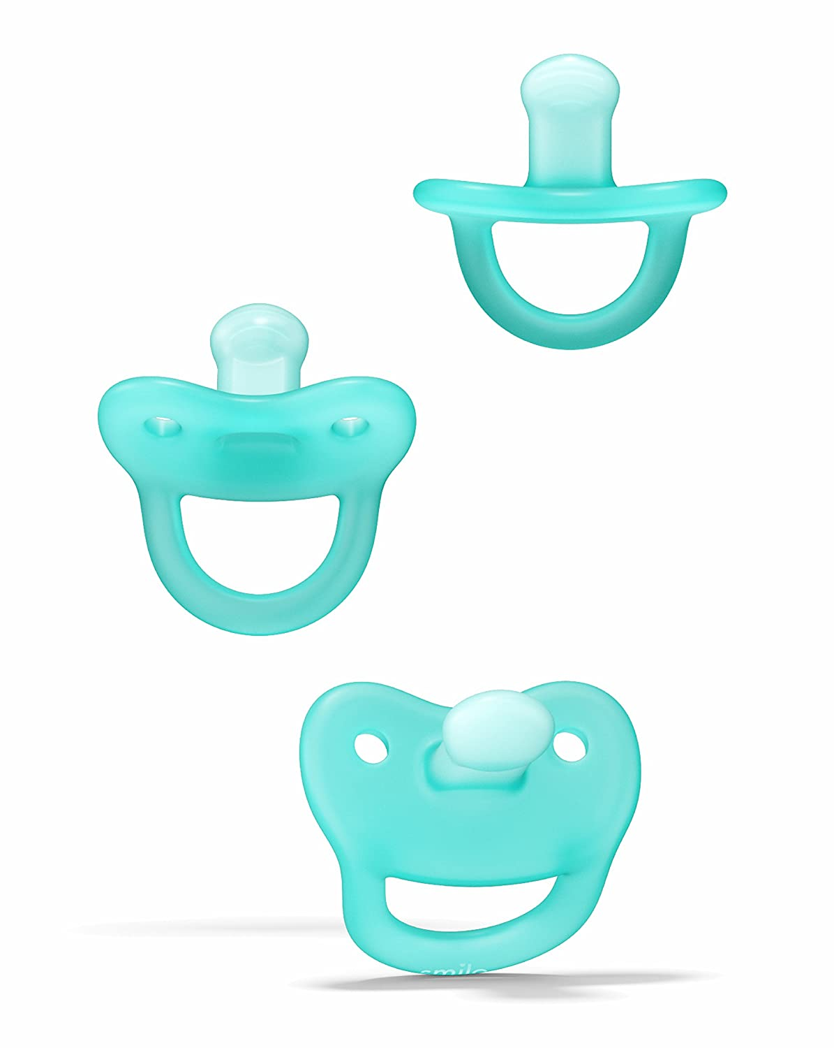 Smilo Newborn Orthodontic Pacifier, BPA Free 0-2 Months, 3-Count
