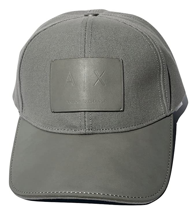 5014a7961c8 Armani Exchange AIX Logo Patch Trucker Full Back Hat Cap in Allow Grey   Amazon.co.uk  Clothing