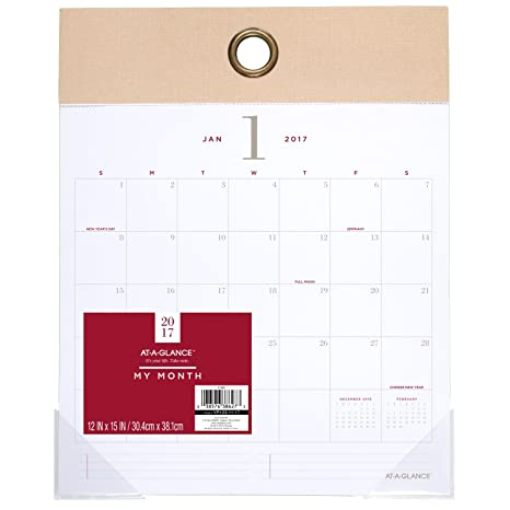 amazon com at a glance 2017 wall calendar monthly 12 x 15