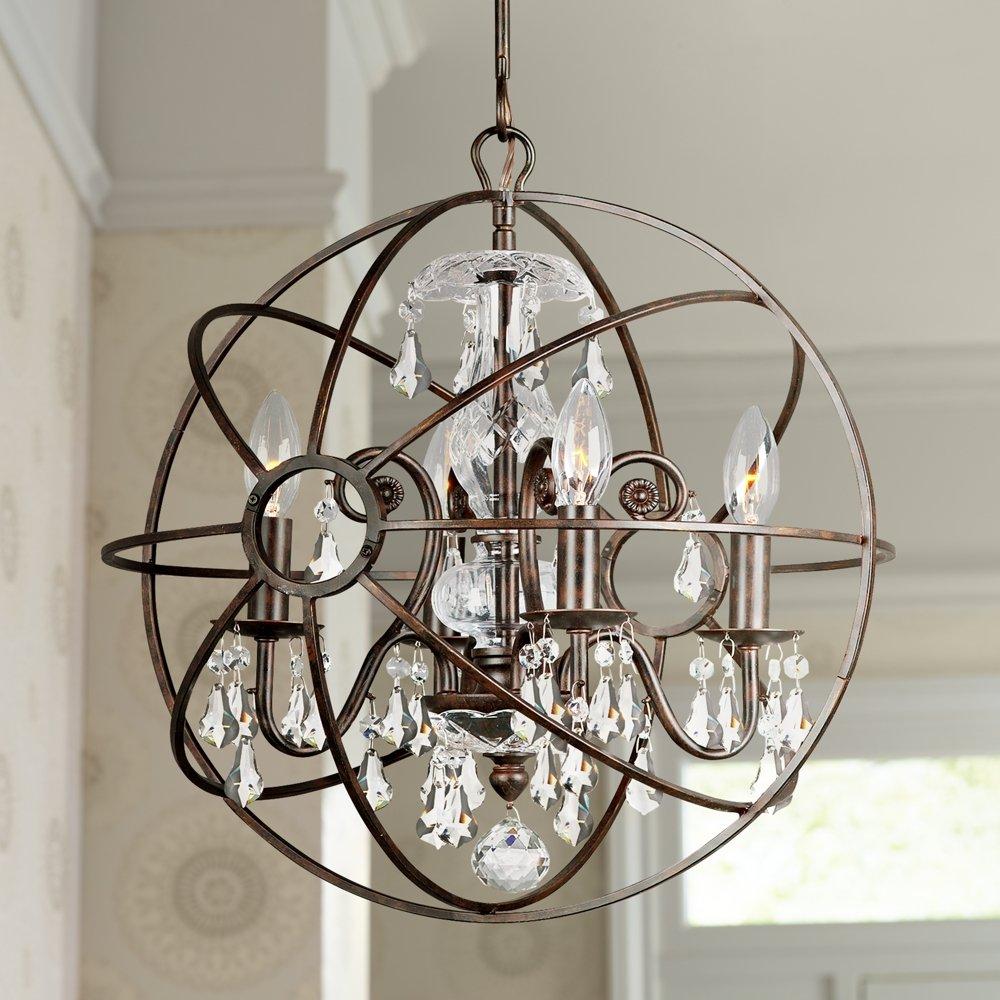 Crystorama solaris 17w english bronze 4 light chandelier close to crystorama solaris 17w english bronze 4 light chandelier close to ceiling light fixtures amazon aloadofball Images