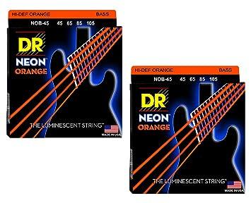 DR Strings NOB-45 - Cuerdas para guitarra eléctrica, color naranja fluorescente (2 unidades): Amazon.es: Instrumentos musicales