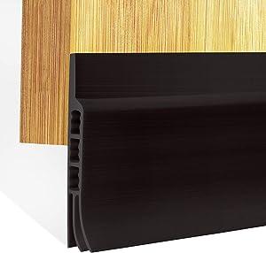 Door Draft Guard 2 Inch Width 47 Inch Length, Under Door Draft Stopper Weather Stripping Door Bottom Seal Strip, Black