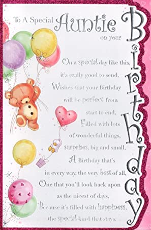 Auntie birthday card to a special auntie on your birthday amazon auntie birthday card to a special auntie on your birthday bookmarktalkfo Choice Image