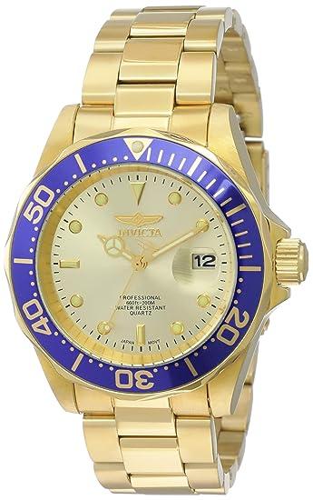 3aa060d53 Invicta 14124 Pro Diver Reloj Unisex acero inoxidable Cuarzo Esfera oro:  Invicta: Amazon.es: Relojes