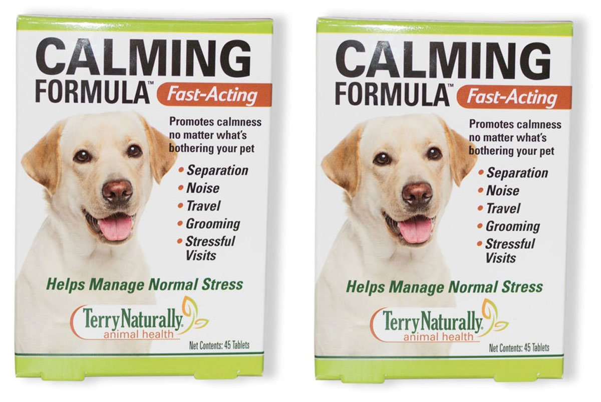 Europharma/Terry Naturally Animal Health Calming Formula Fast-Acting Helps Manage Stress 45 Tablets (2) by Terry Naturally (Image #1)