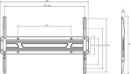 XFlat - Soporte de pared para TV de pantalla plana de 81-27 cm (32-50
