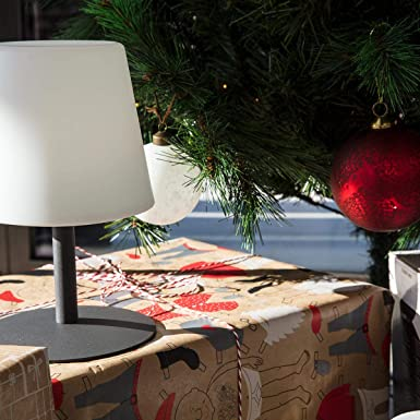 Lumisky Lampe De Table De Jardin Lumiere Blanche Sans Fil Sur Batterie Standy Mini Rock A Led 26cm Abs Gris 15x15xh26 Amazon De Beleuchtung