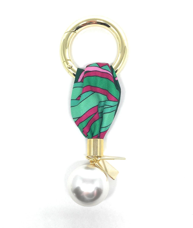WB Fashion Elegance Bag Charm with Peal Decoration for Tote Handbag Purse Gifts