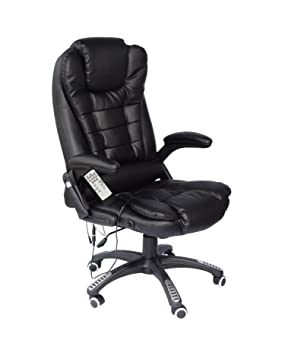 big sale 855db 826bf Cherry Tree Furniture Executive Recline Extra Padded Office Chair (Massage,  Black)
