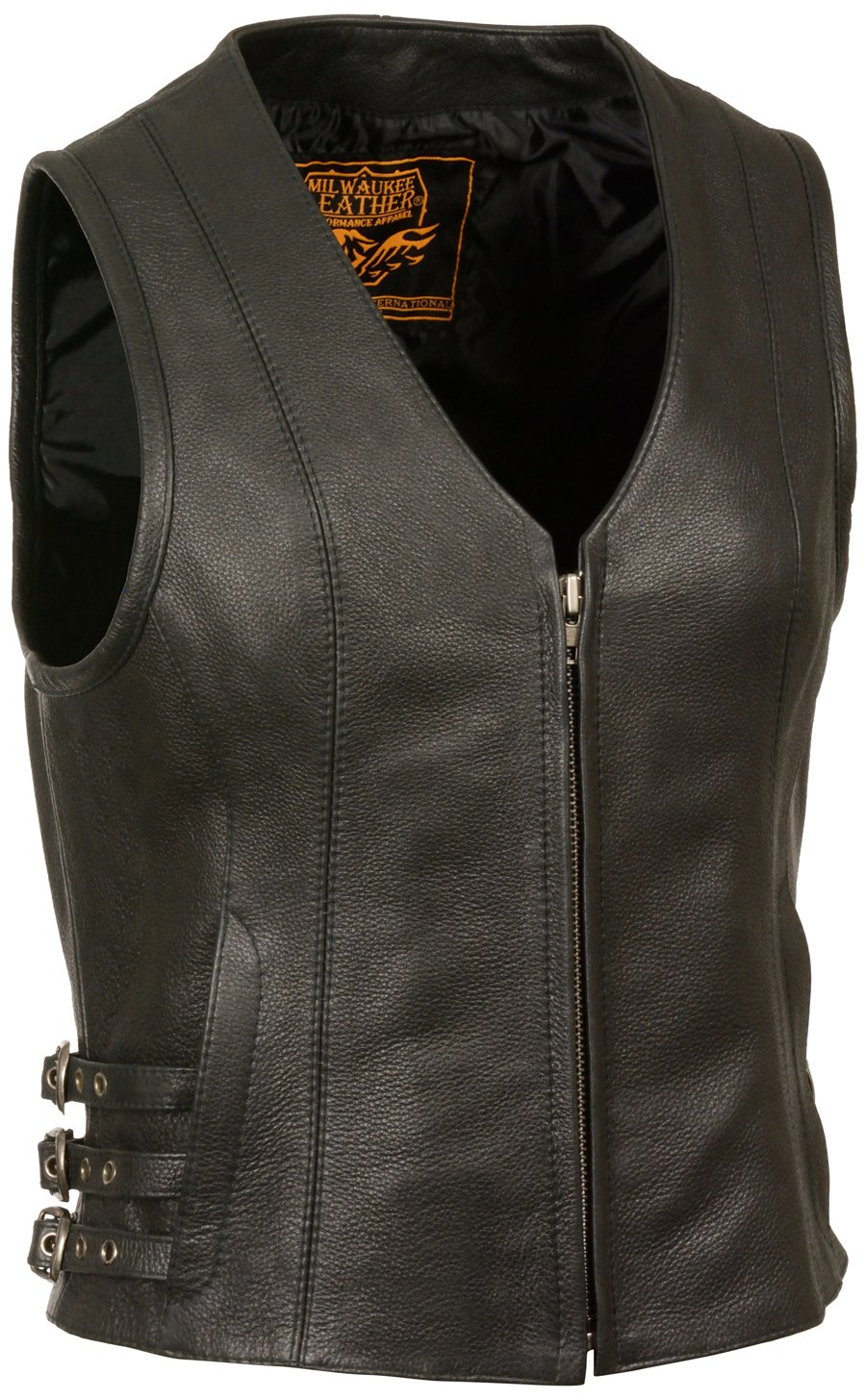 Milwaukee Women's Zippered Front Vest with Side Buckles (Black, 4X-Large) by Milwaukee
